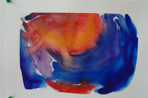 Blå abstraktion 25X19