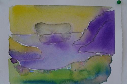 Midvagur 1, 25X19, akvarel