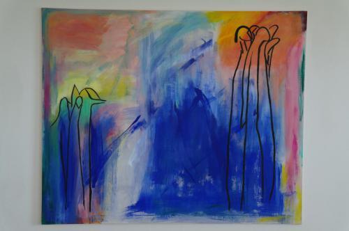 Multicolour med væsner 115X140
