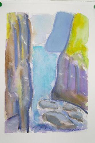 Mykinæs 3 18X25, akvarel